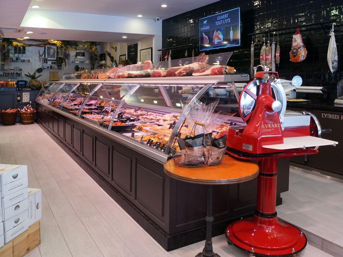 Maison Evrard boucherie à Lille intérieur boutique