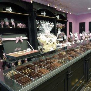 Présentation des chocolats
