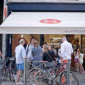 Vitrine Halles modernes boucherie Vieux-Lille