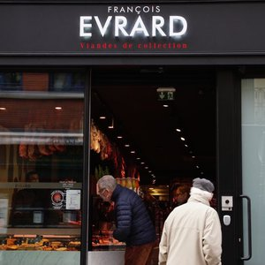 Façade boucherie Evrard rue Esquermoise à Lille