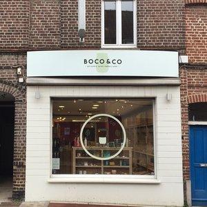 Vitrine de Boco and Co, boutique de vrac à Mouvaux