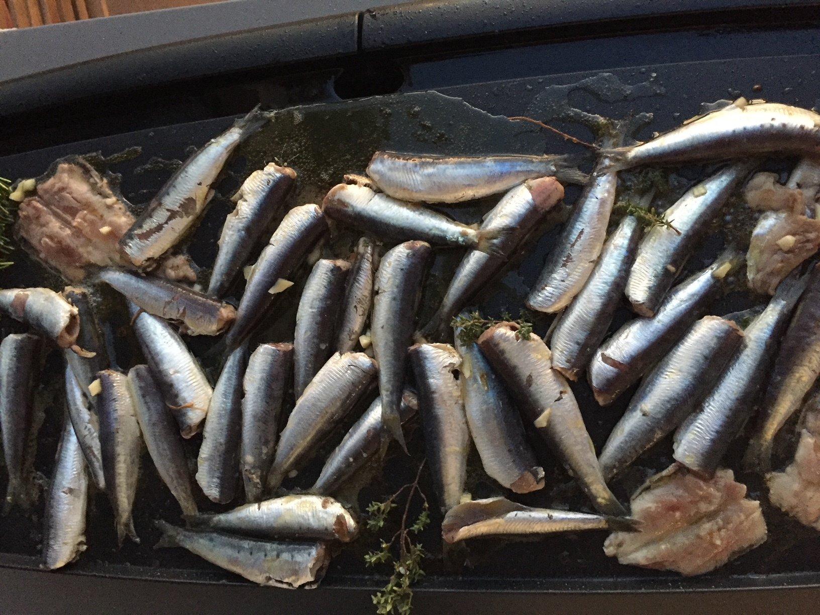sardines à la plancha, produit de saison juin