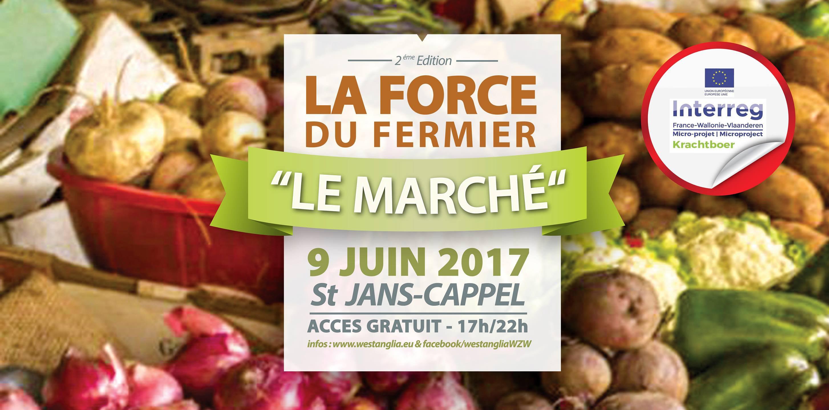 La force du fermier, marché bio saint jans cappel